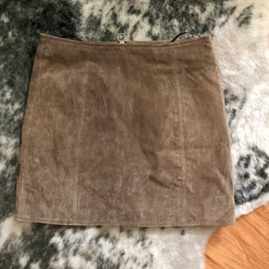 BlankNYC Faux Suede Mini Skirt